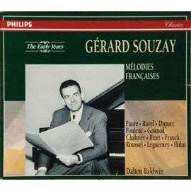 GERARD SOUZAY MELODIES FRANCAISES
