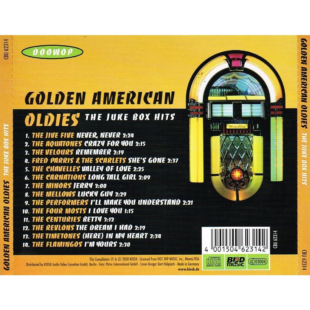 Golden american oldies: the juke box hits - doowop by Various Artists, CD  with allaboutvinylplus