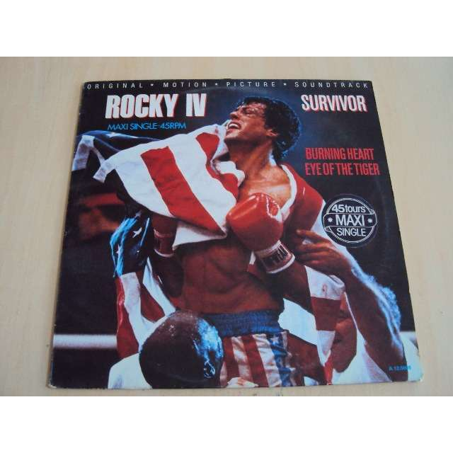 survivor BURNING HEART / EYE OF THE TIGER 1985 HOLLANDE ROCKY IV