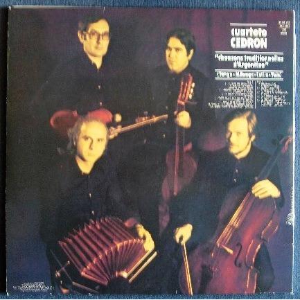 cuarteto cedron chansons traditionnelles d'argentine
