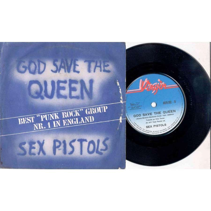 Sex Pistols God Save the Queen (Brazil 1977 original 2-trk 7single absolutely unique ps)