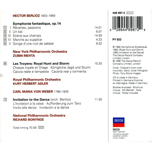 Symphonie fantastique les troyens excs invitation to the berlioz weber symphonie fantastique les troyens excs invitation to the dance stopboris Images