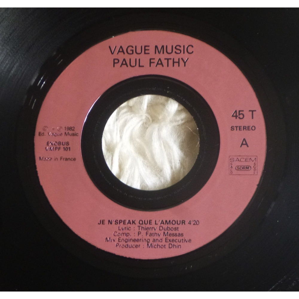 PAUL FATHY funky baby love / je n'speak que l'amour ( ultra