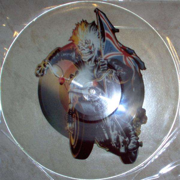 Iron Maiden infinite dreams (uk 1989 ltd 'uncut' 2-trk shaped 12 test press picture disc)