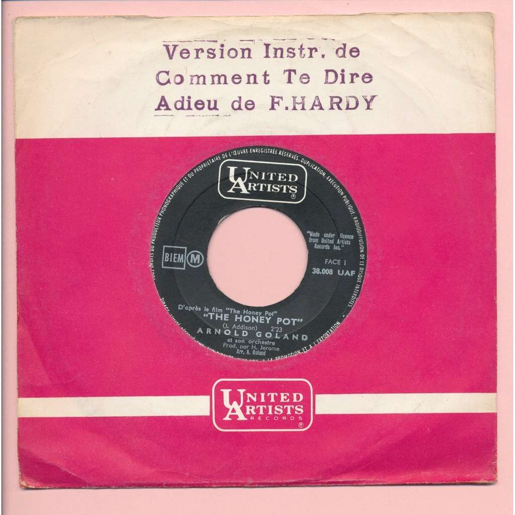ARNOLD GOLAND - ( HARDY - GAINSBOURG ) the honey pot - it hurts to say goodbye