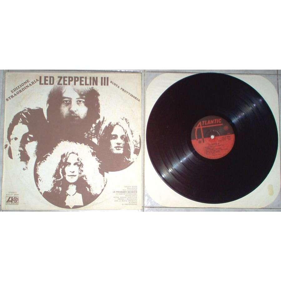 Led Zeppelin Led Zeppelin III (Italian 1970 LP unique 'Edizione Straordinaria Busta provvisoria' ps)