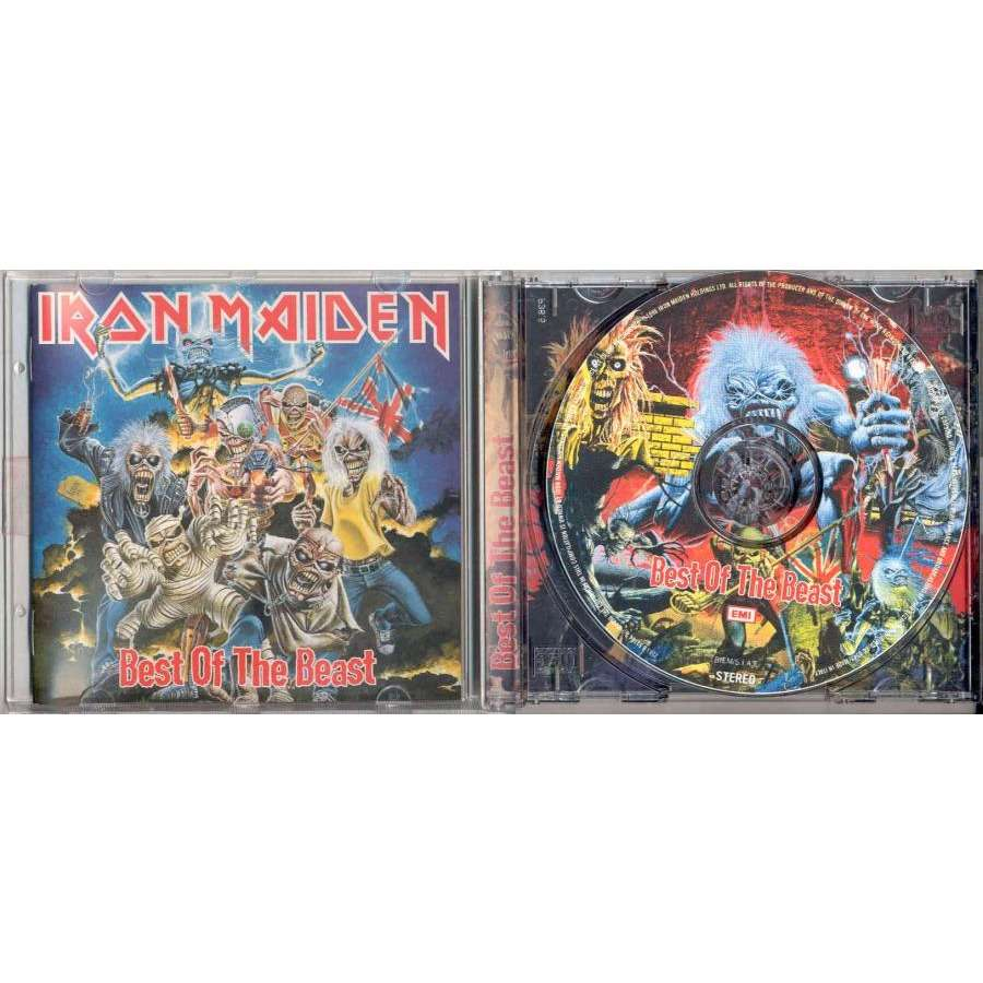 Iron Maiden Best Of The Beast (Italian 1996 Ltd 'SIAE' issue 16-trk CD Picture Disc ps & booklet)