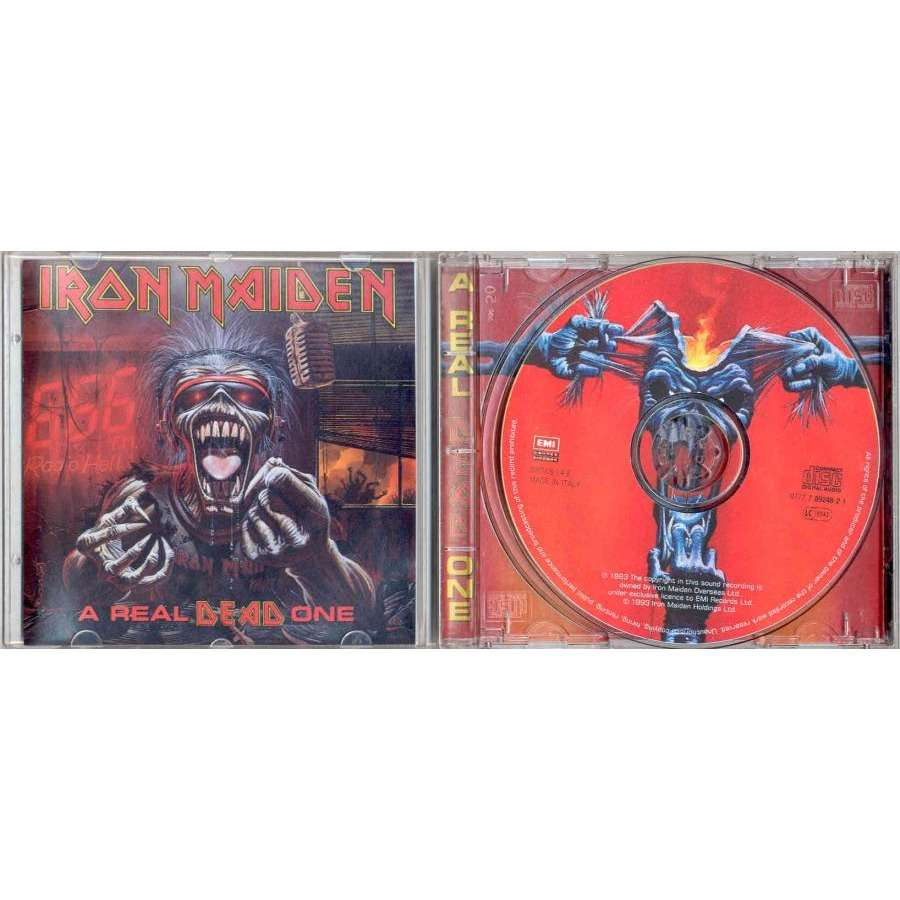 Iron Maiden A Real Dead One (Italian 1993 SIAE 12-trk CD album Picture Disc ps)