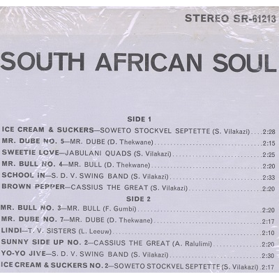 Ice Cream & Suckers South African Soul