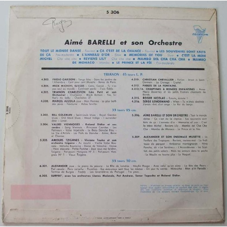 Aimé Barelli Aimé Barelli et son orchestre