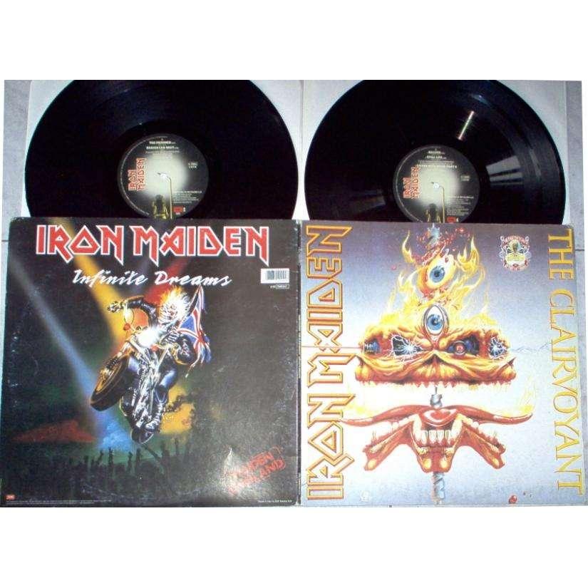 Iron maiden The Clairvoyant/Infinite Dreams (Italian 1990 Ltd 2x 12inch set full gf ps)