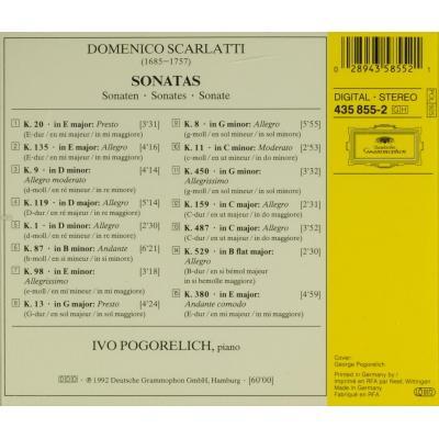 Sonaten Ivo Pogorelich De Scarlatti Domenico 1685 1757 Cd Chez Melomaan Ref 116459005