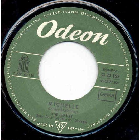 Beatles Michelle (German 60s 2-trk 7 single unique ps)