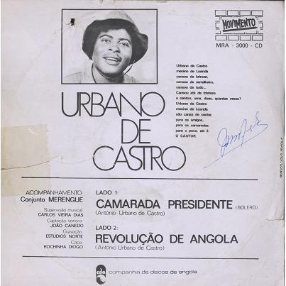 Urbano De Castro & Conjunto Merengue Camarada Presidente / Revoluçao De Angola