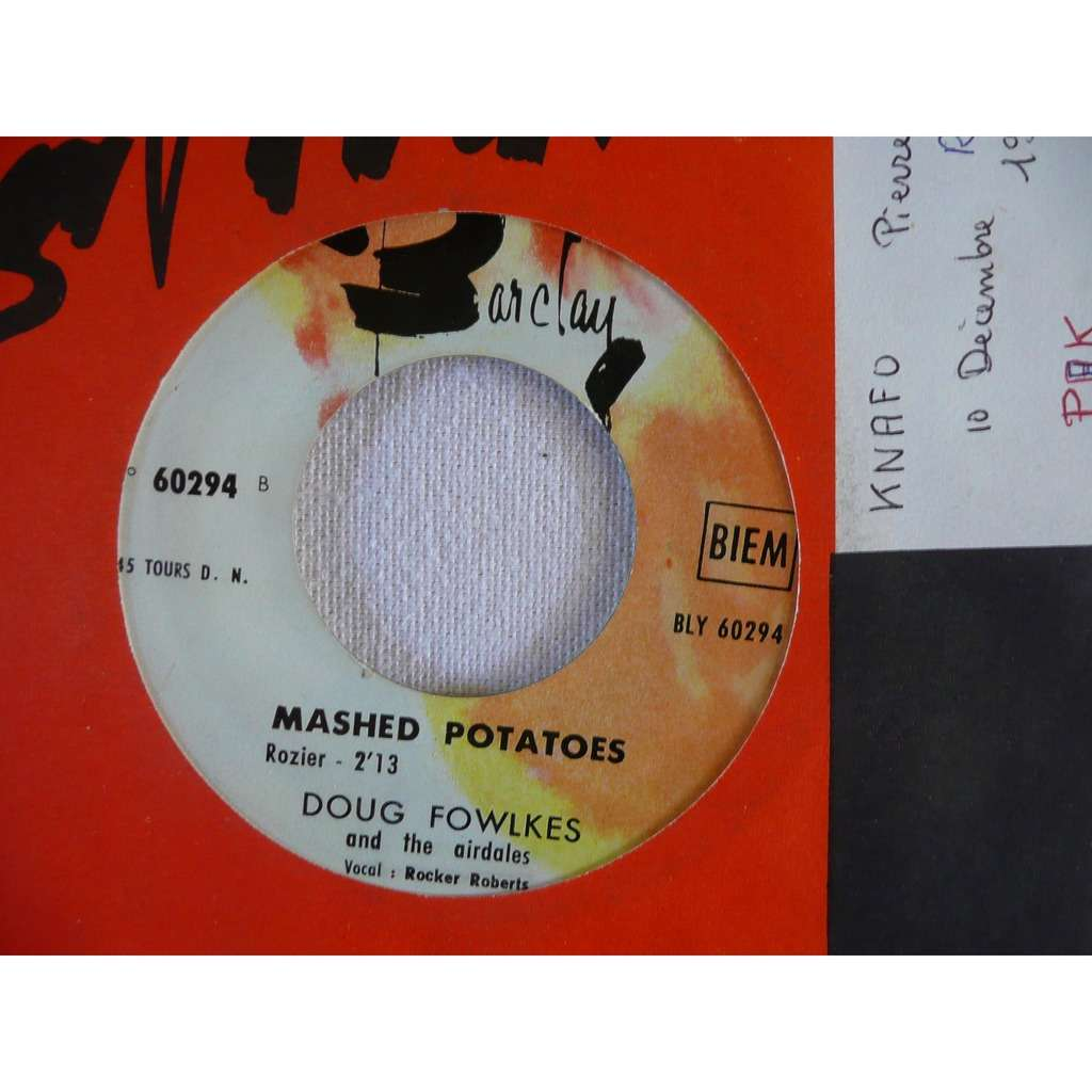 doug fowlkes and the airdales Good good lovin' - Mashed potatoes
