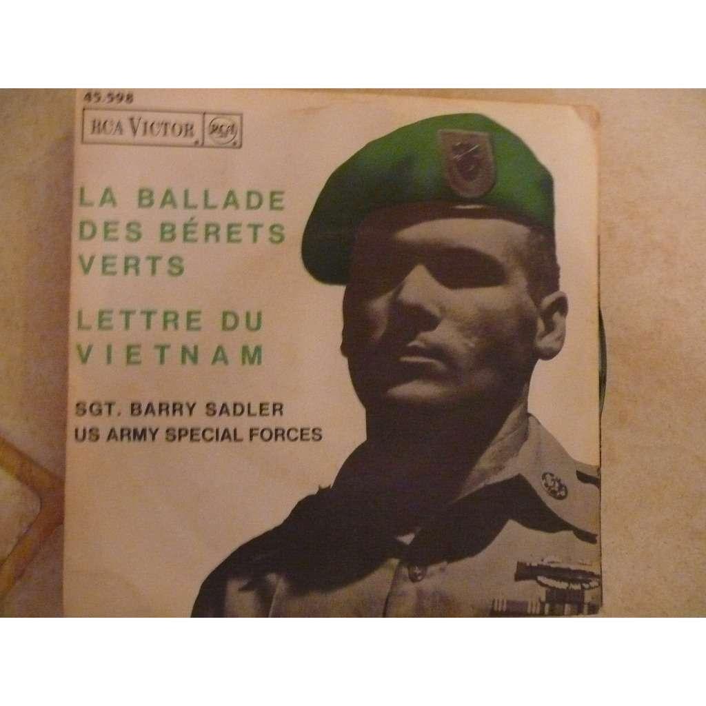 sgt. barry sadler la ballade des bérets verts - lettre du vietnam