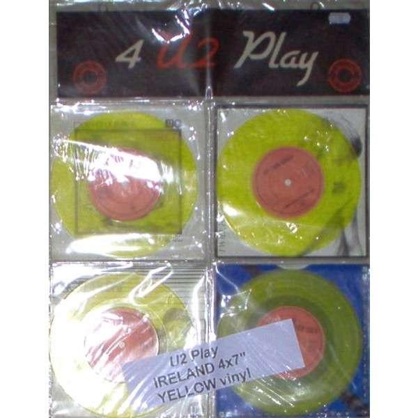 U2 U2 Play (Ireland 1982 Ltd 4 x 7 Singles YELLOW vinyl set in PVC display wallett)