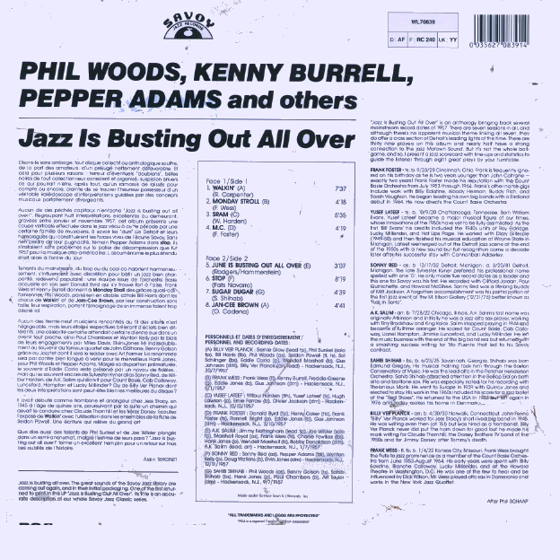 Phil Woods - Kenny Washington - Here's To My Lady