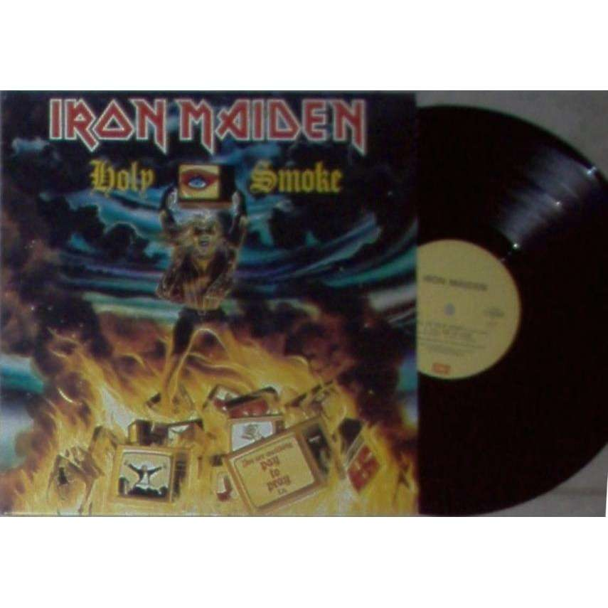 iron maiden Holy Smoke (Italian 1990 Ltd original 3-trk 12EPon emi yellow lbl full ps)