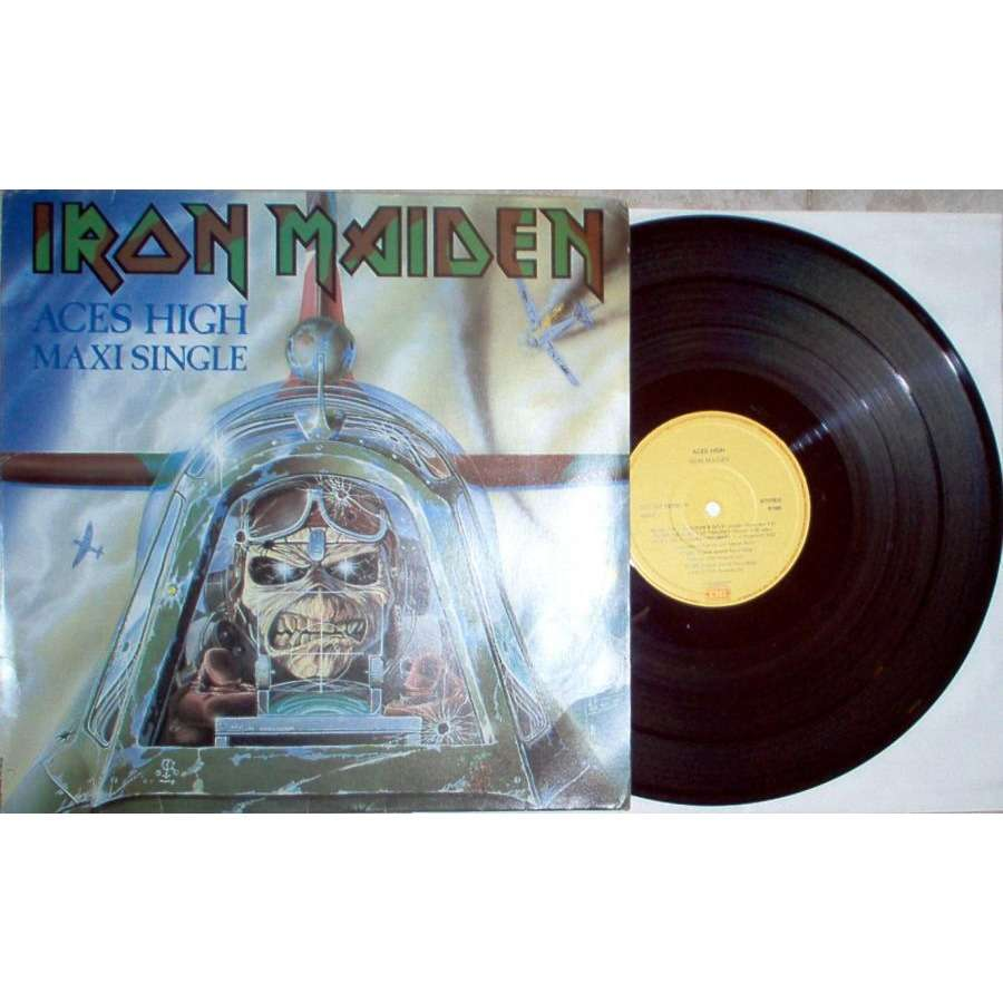 iron maiden Aces High (Brazil 1985 5-trk 12 EP full ps)
