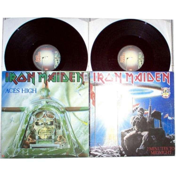 iron maiden 2 Minutes to Midnight/Aces High (Italian 1990 Ltd 2 x 12inch set full gf ps)