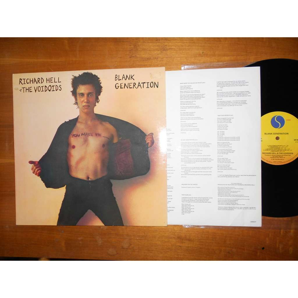 Blank Generation By Richard Hell Amp The Voidoids Lp With