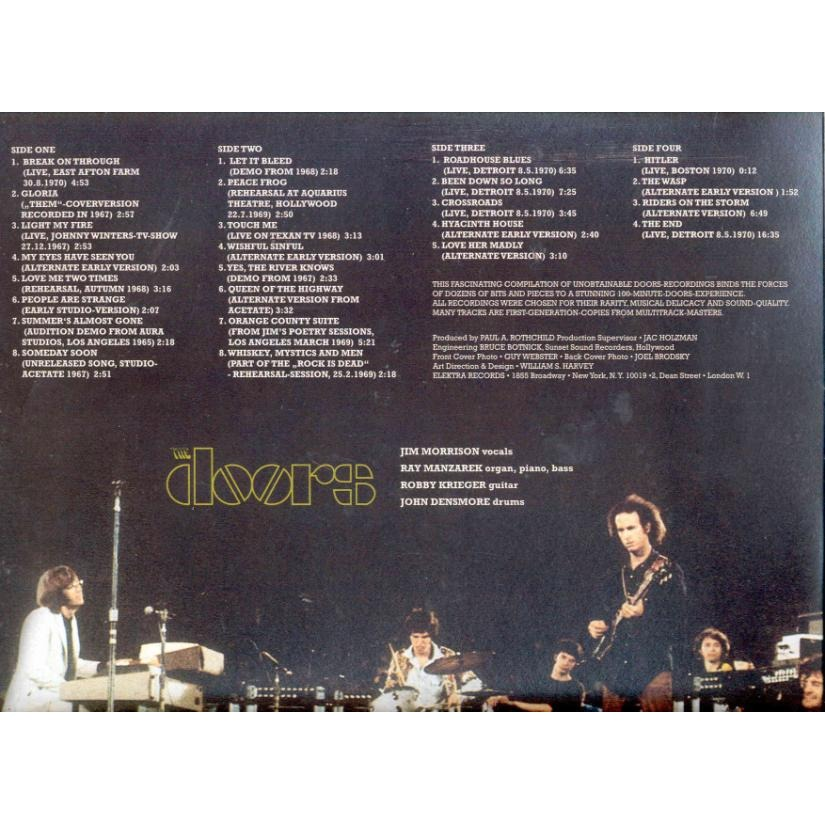 ... Doors Absolutely Rare (Live Demos Rehearsals Alternate) ...  sc 1 st  CD and LP & Absolutely rare (live demos rehearsals alternate) by Doors LP x 2 ... pezcame.com