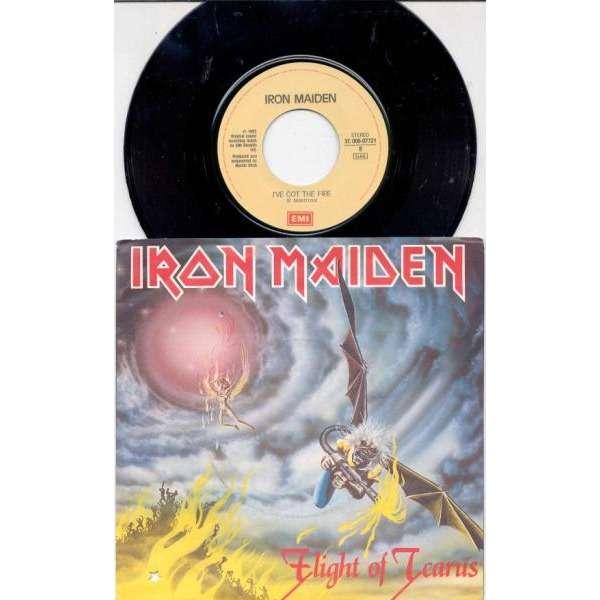 Iron Maiden Flight Of Icarus (Italian 1983 2-trk 7 single full ps)