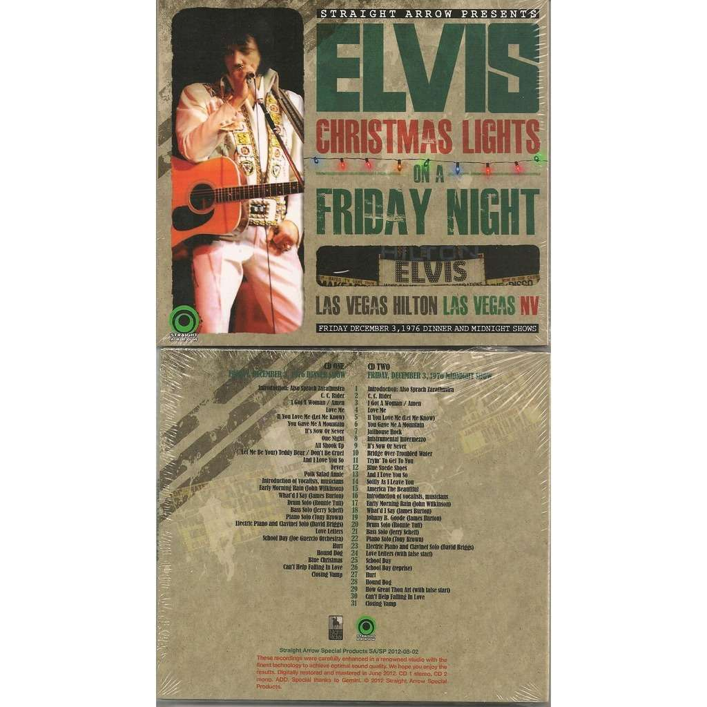 elvis presley christmas lights on a friday night 2 cd digipack las vegas 312
