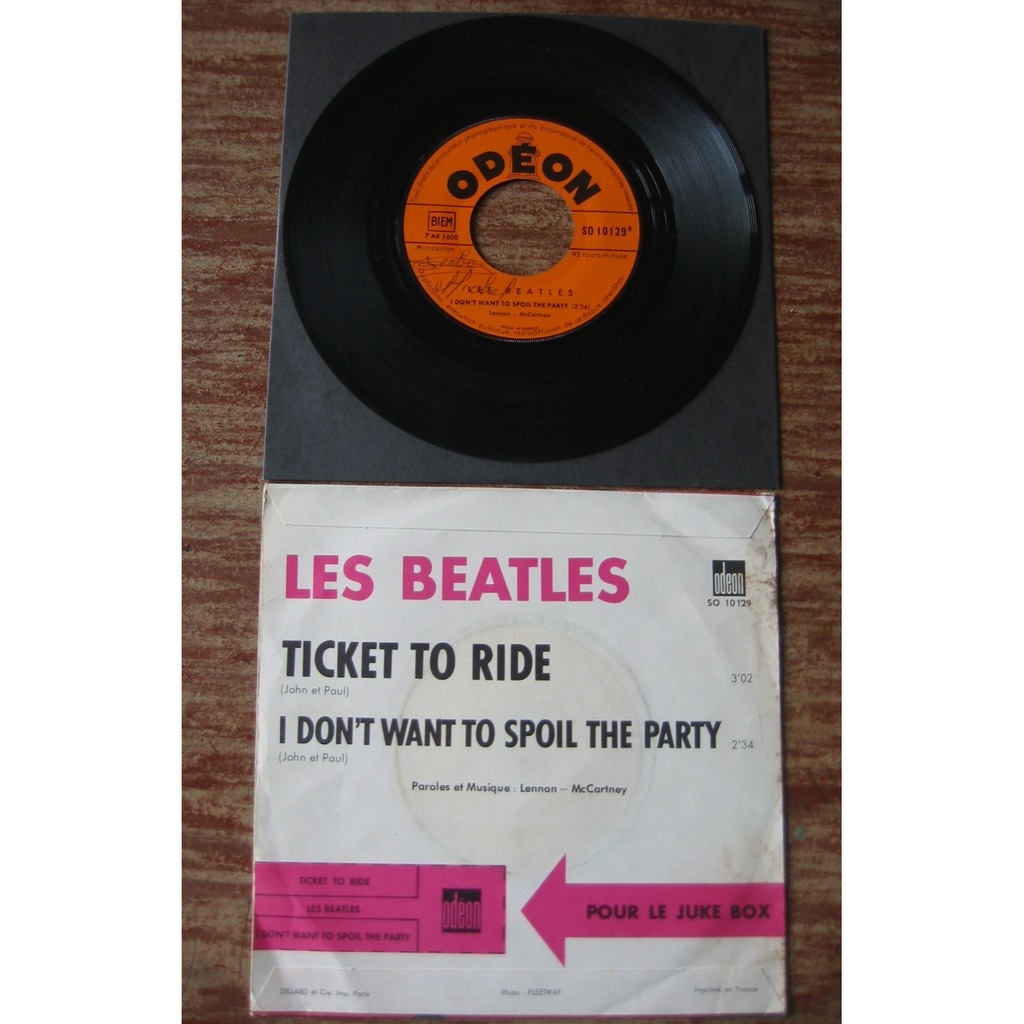 The Beatles 1965 : Ticket To Ride + I Don't Want To Spoil The Party
