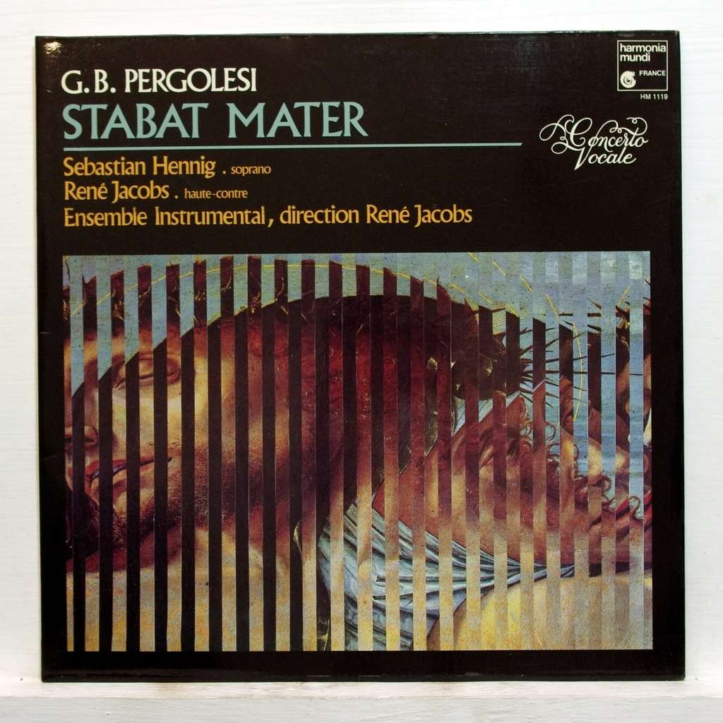 Pergolesi Stabat Mater By Ren 233 Jacob Lp Gatefold With