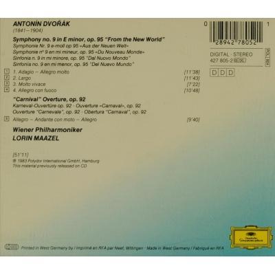 Symphony no 9, carnival overture / lorin maazel by Dvořák, Antonín, CD with  melomaan