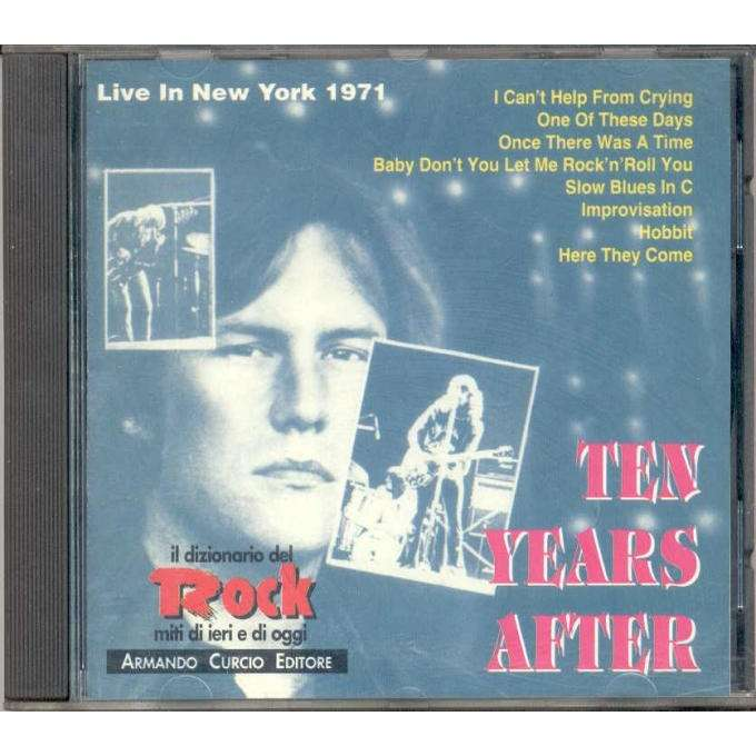 Ten Years After Live in New York 1971 (Italian 1992 7-trk live promo CD unique ps)