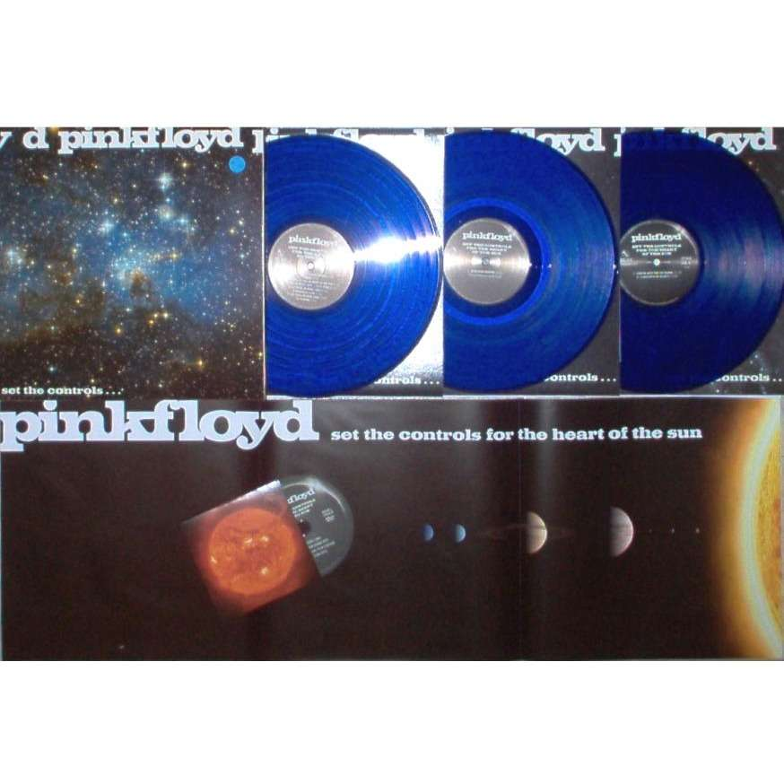 Pink Floyd Set The Controls For The Heart Of The Sun (Ltd 500 copies live 3LP BLU vinyl gf ps & DVD & poster)