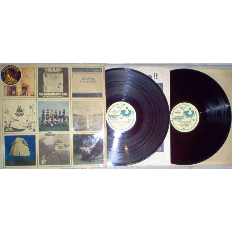Pink Floyd Una Agradable Par (Argentina 1974 18-trk 2LP set unique spanish titles gf ps)
