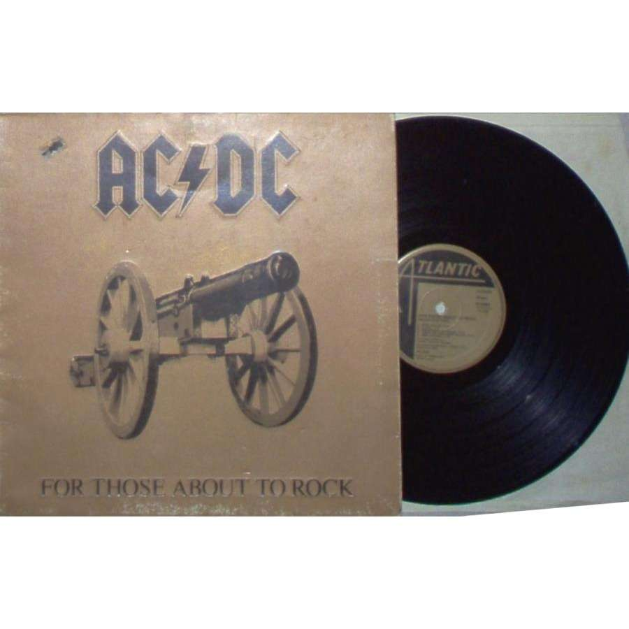 AC/DC For those about to Rock we salute you (Italian 1981 10-trk LP full gf ps)