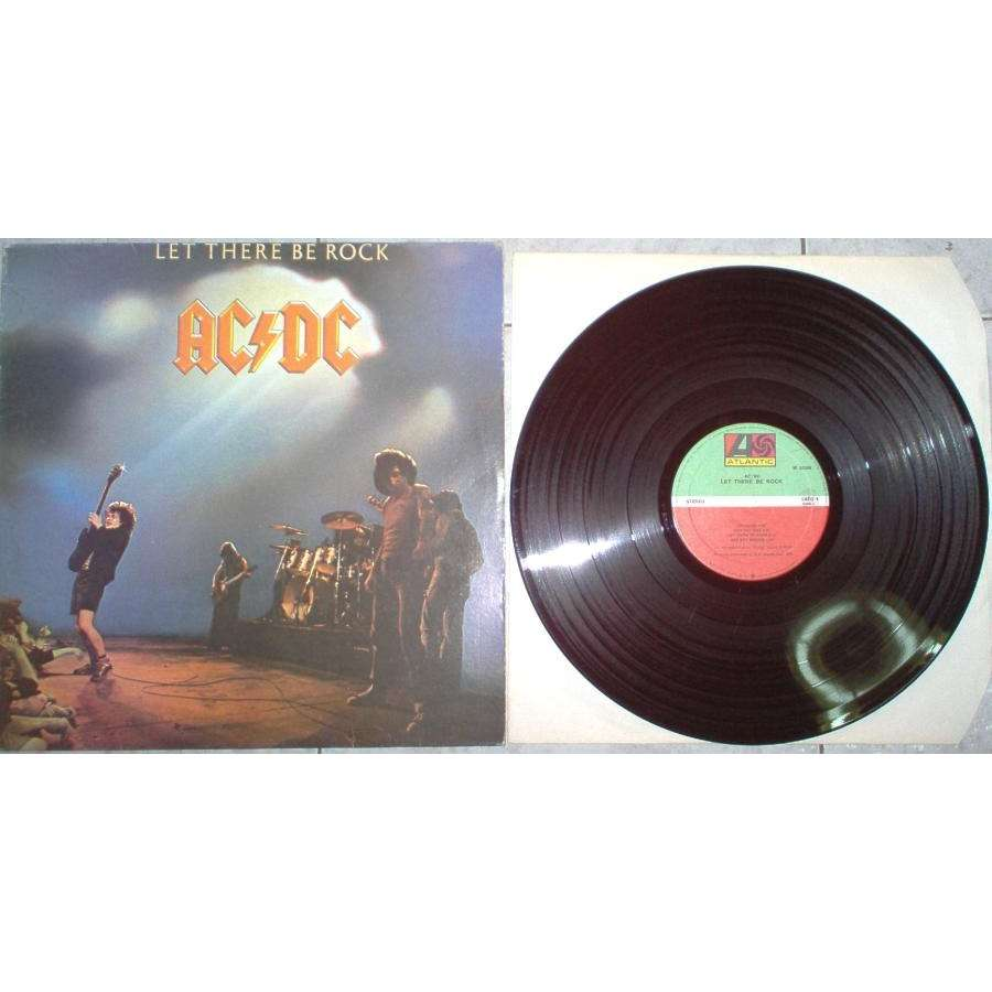 AC/DC Let there be rock (Italian 1977 8-trk LP full ps)