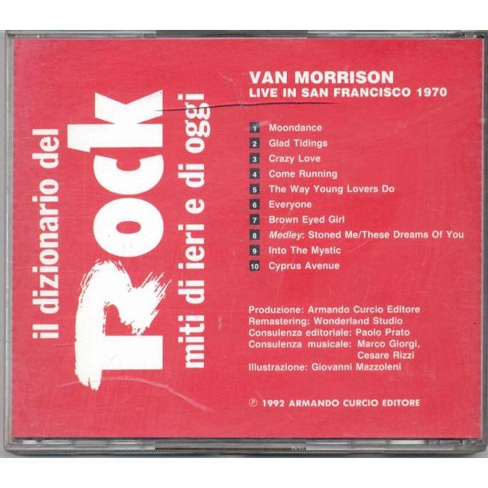 Van Morrison Live in San Francisco 1970 (Italy 1992 10-trk promo cd unique ps)