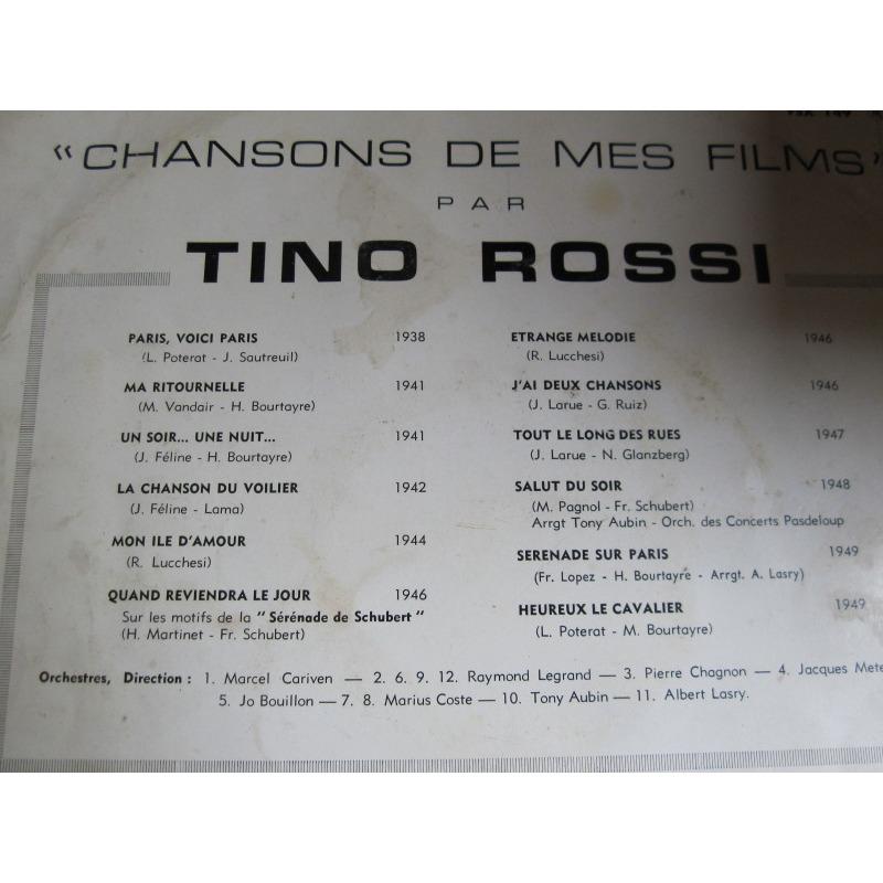 Tino Rossi chansons de mes films