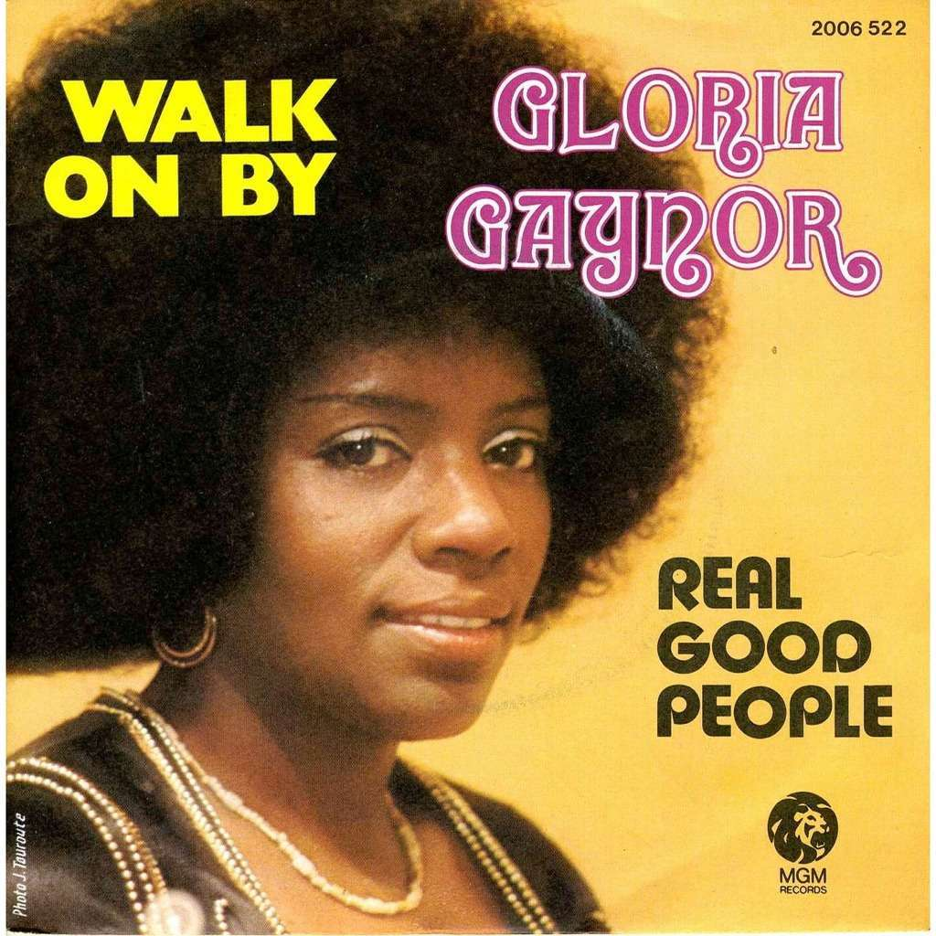 Walk On By Real Good People By Gloria Gaynor Lp With