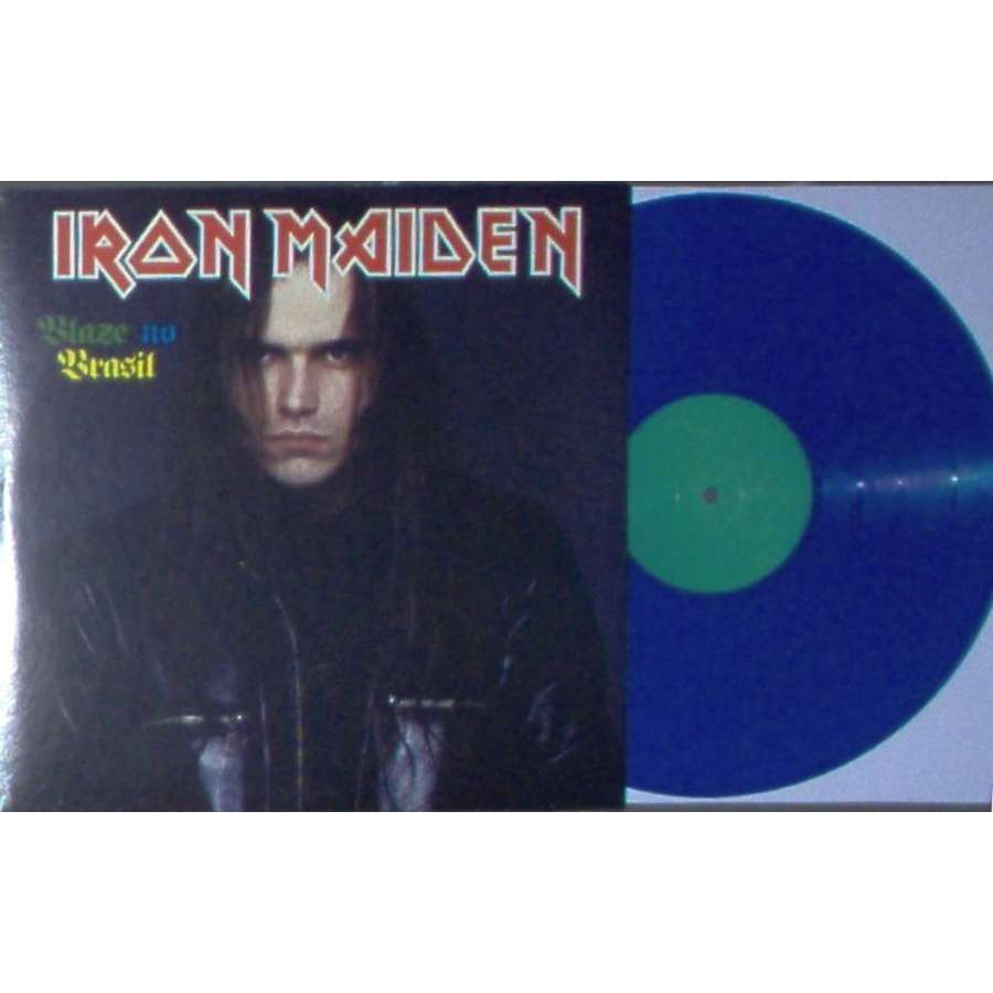 iron maiden Blaze No Brasil (Estadio Do Pacaembu Sao Paulo BR 24.08.1996) (Ltd 100 copies LP BLU wax No'd ps)