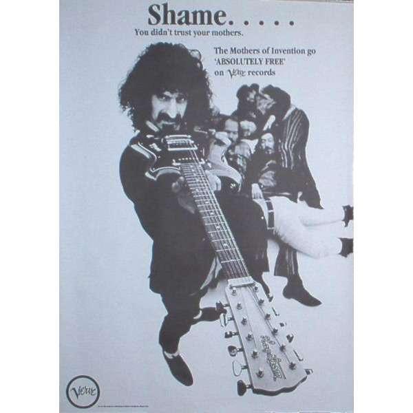 Absolutely Free Usa 70s Re Album Promo Shop Poster De