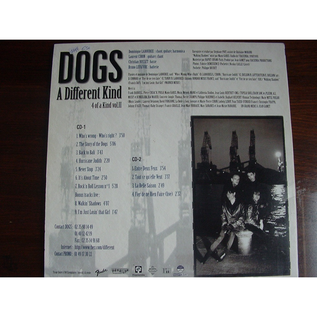 dogs 4 Of A Kind Vol.2 - A Different kind (LP + 2xCD)