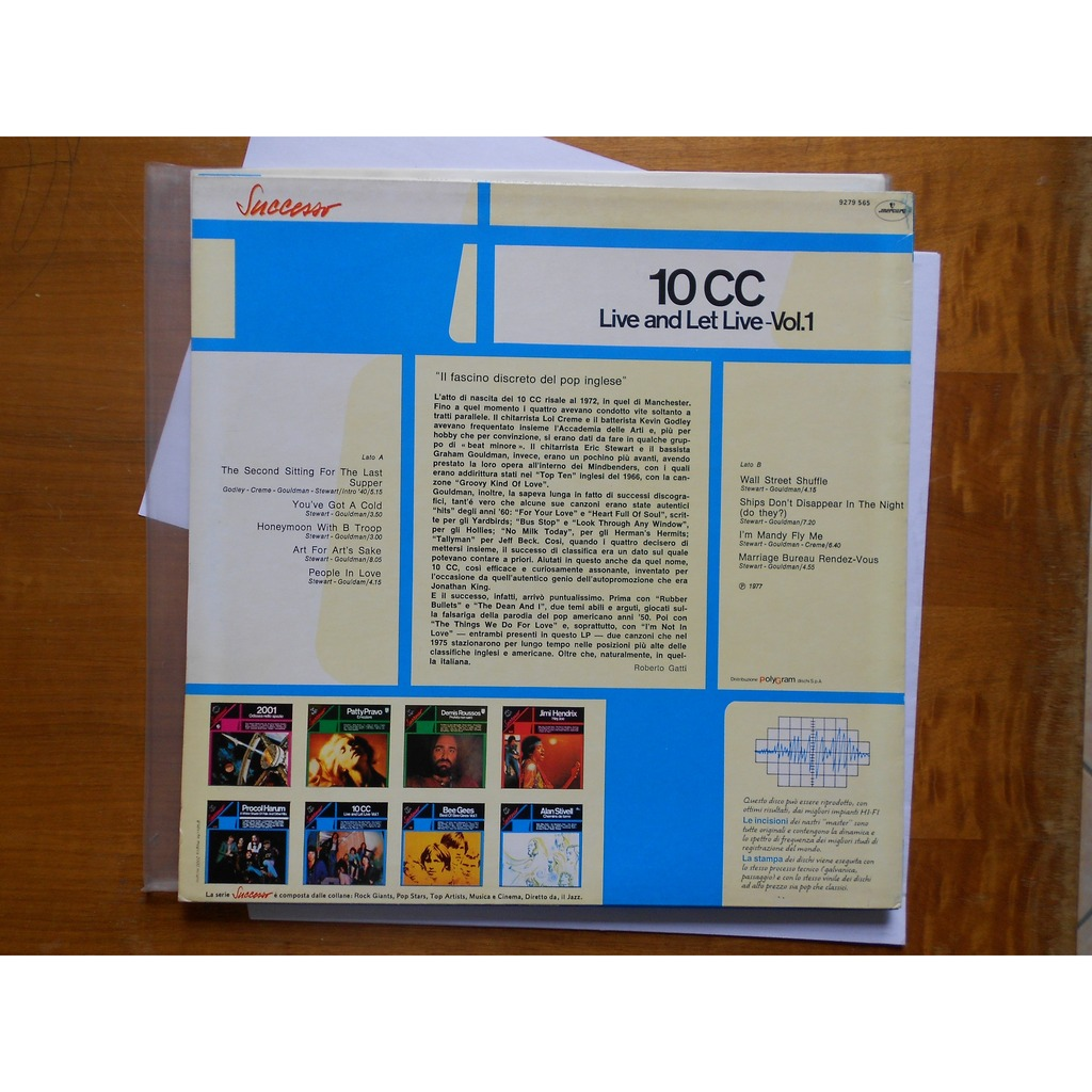 Live And Let Live Vol 1 By 10cc Lp With Alexandra66