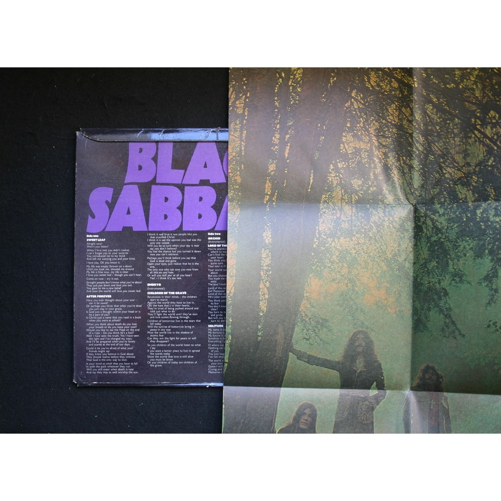 Black Sabbath Master Of Reality (with poster)