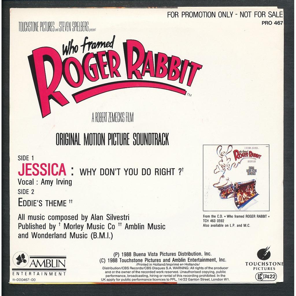 silvestri alan amy irving who framed roger rabbit - Who Framed Roger Rabbit Soundtrack