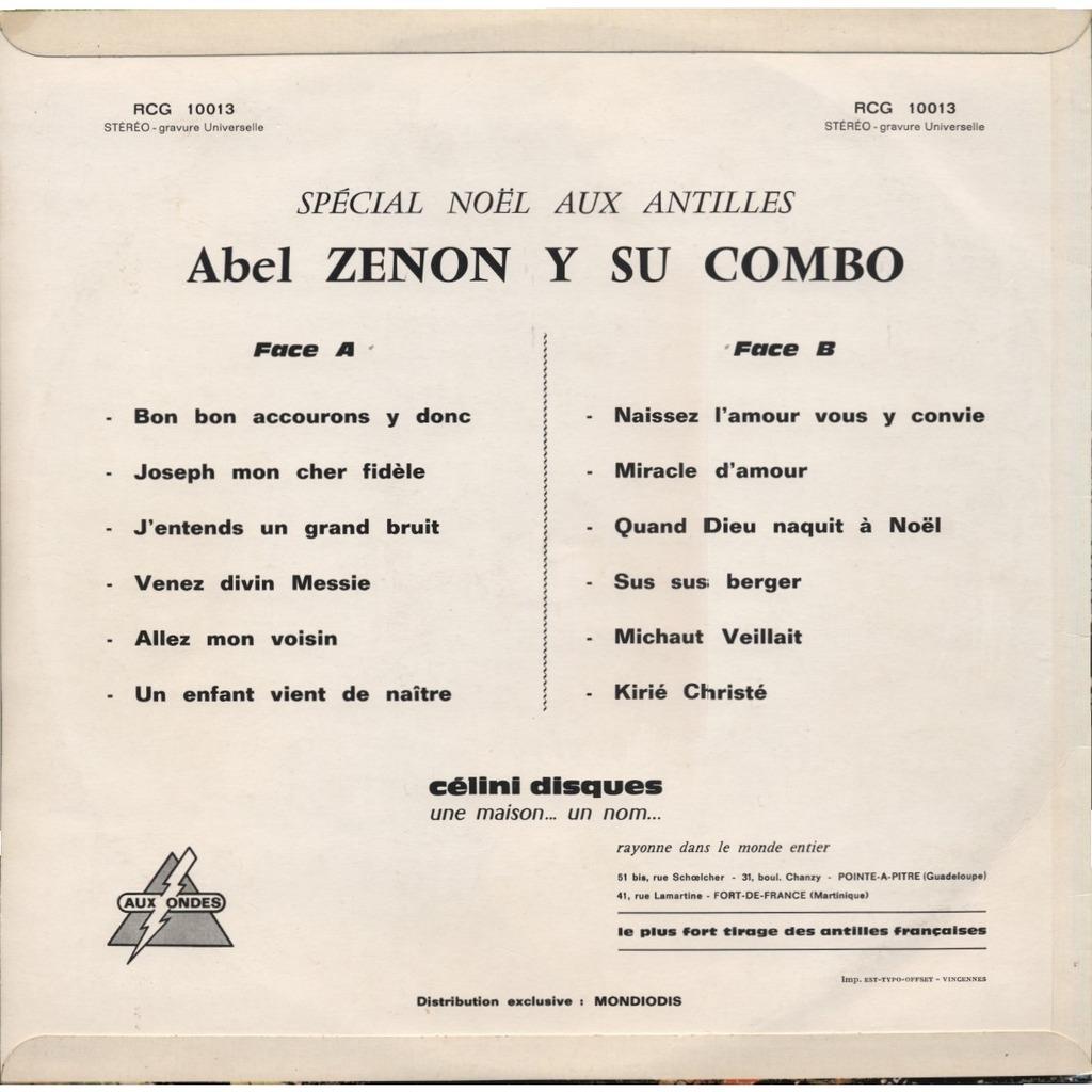 ABEL ZENON y su ( et son ) combo Noël Aux Antilles avec Abel Zenon et son Combo