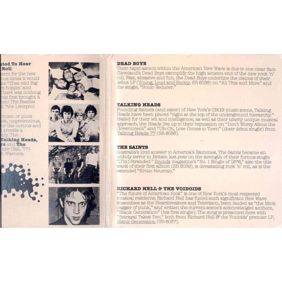 Talking Heads / Dead Boys New Wave Rock'n'Roll (USA 1977 promo 8-trk 7single double pack sampler unique gf ps)