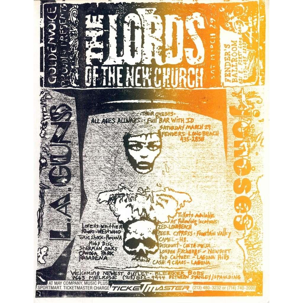 The Lords Of New Church LA Guns Joneses FENDERS BALLROOM SAT MARCH
