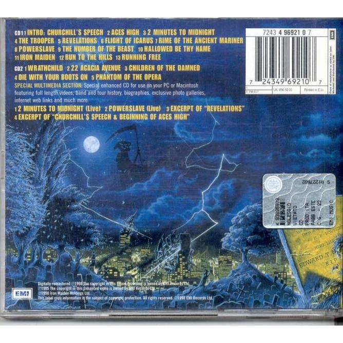 IRON MAIDEN Live After Death (Euro 1998 Ltd 18-trk enhanced 2Cd set stickered ps)
